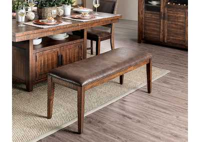 Wichita Distressed Dark Oak Bench,Furniture of America
