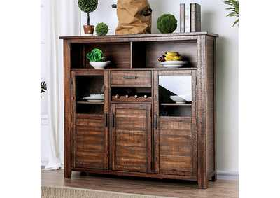 Wichita Distressed Dark Oak Server