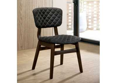 Shayna Espressso Upholstered Side Chair (Set of 2),Furniture of America