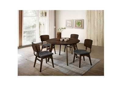 Shayna Gray Walnut Dining Table,Furniture of America