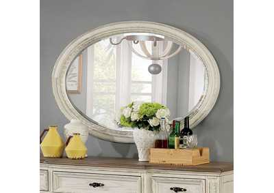 Image for Arcadia Gray Oval Mirror