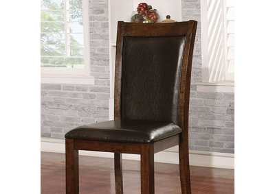 Maegan Brown Cherry Side Chair [Set of 2],Furniture of America