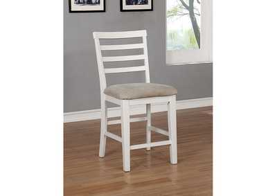 Kiana White Counter Height Chair [Set of 2]