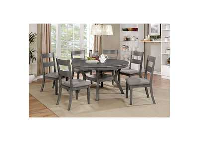 Juniper Gray Round Dining Table
