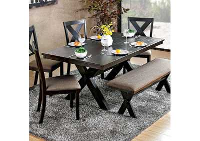 Xanthe Brushed Black Dining Table
