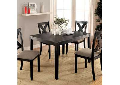 Image for Glenham Brushed Black 5 Piece Dining Table Set