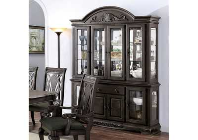 Image for Petersburg Dark Gray Hutch Buffet