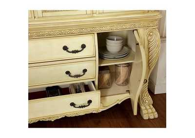 Image for Wyndmere White Hutch & Buffet w/Touch Lights