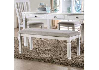 Image for Kaliyah Antique White Upholstered Bench
