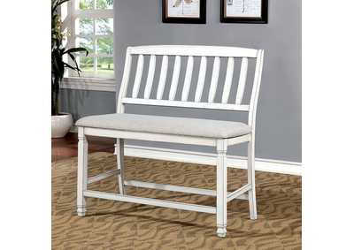 Image for Kaliyah Antique White Counter Bench