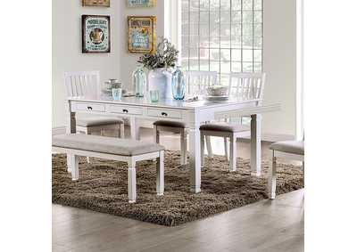 Kaliyah Antique White Dining Table