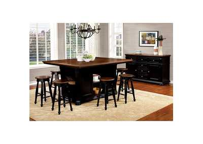 Image for Sabrina Cherry and Black Counter Stool (Set of 2)