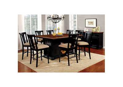 Sabrina Black Counter Height Table