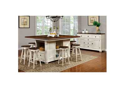 Image for Sabrina Cherry and White Counter Stool (Set of 2)