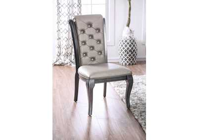 Amina Gray Side Chair [Set of 2],Furniture of America