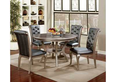 Amina Champagne Round Dining Table,Furniture of America