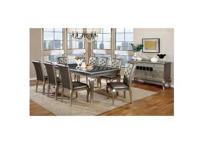 Amina Champagne Dining Table,Furniture of America