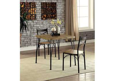 Image for Slingsbury Gray/Dark Bronze 3 Piece Dining Set