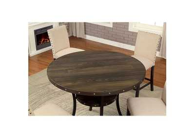 Kaitlin Light Walnut Round Counter Height Table,Furniture of America