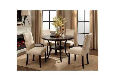 Kaitlin Light Walnut Round Dining Table