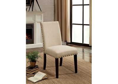 Kaitlin Light Walnut Side Chair (Set of 2),Furniture of America