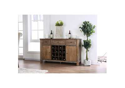 Sania III Rustic Oak Server,Furniture of America