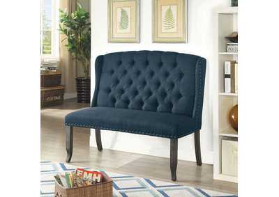 Sania Antique Black 2-Seater Loveseat Bench,Furniture of America
