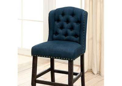 Image for Sania II Blue Counter Height Chair [Set of 2]