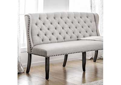 Image for Sania I Red 3-Seater Loveseat Bench