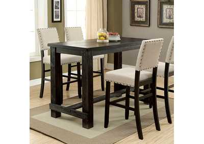 Sania Antique Black Bar Table,Furniture of America