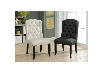 Sania I Gray Side Chair [Set of 2],Furniture of America