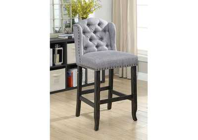 Sania Antique Black Bar Chair [Set of 2],Furniture of America