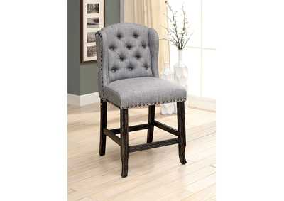 Image for Sania II Gray Counter Height Chair [Set of 2]