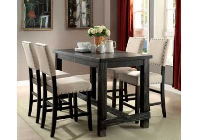 Sania Antique Black Counter Height Table,Furniture of America