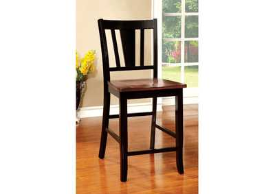 Dover II Black/Cherry Counter Chair (Set of 2),Furniture of America