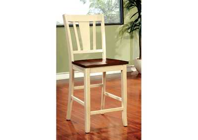 Dover II White/Cherry Counter Chair (Set of 2),Furniture of America