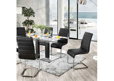 Richfield Black Dining Table,Furniture of America