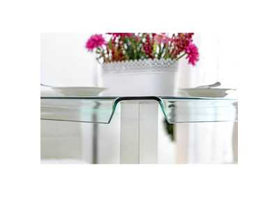 Richfield II Silver/Chrome Glass Counter Table,Furniture of America