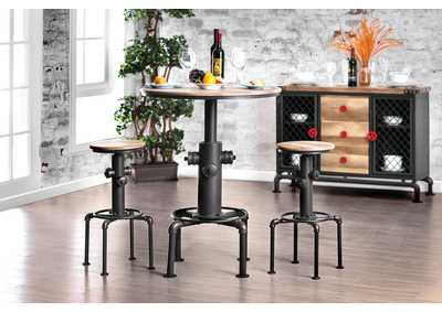 Image for Foskey Antique Black Bar Table