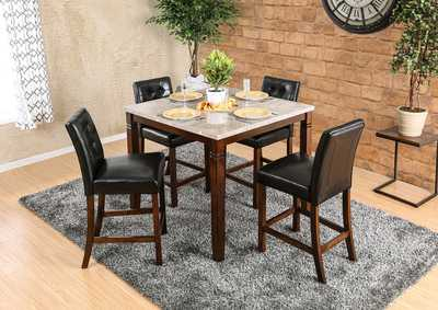 Image for Marstone Brown Cherry/Black Counter Height Table