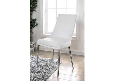 Izzy White Side Chair (Set of 2),Furniture of America
