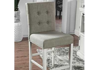 Sutton Antique White Counter Height Chair [Set of 2],Furniture of America