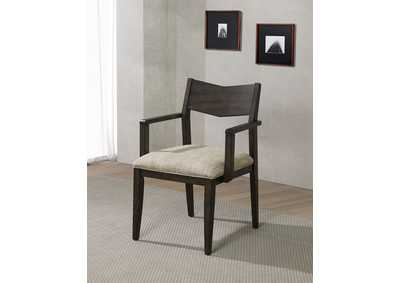Meridian Dark Walnut Arm Chair [Set of 2]