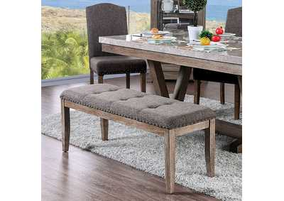 Bridgen Natural Bench,Furniture of America