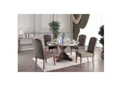 Bridgen Natural Round Table,Furniture of America