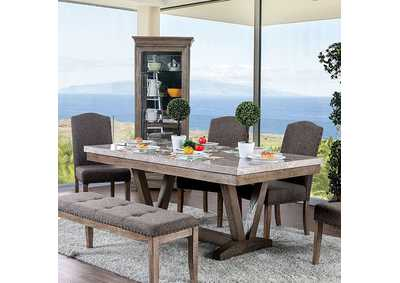 Bridgen Natural Dining Table,Furniture of America