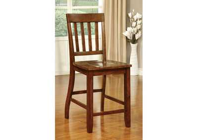 Image for Foster II Dark Oak Counter Height Chair (Set of 2)