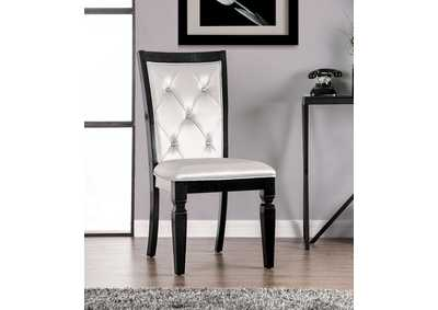 Alena Black Side Chair [Set of 2]