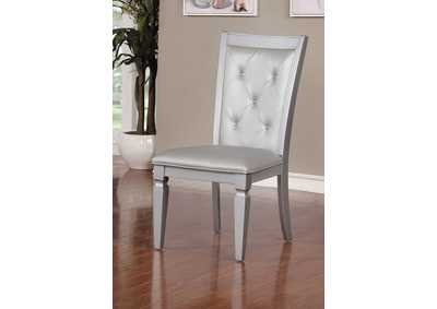 Alena Silver Side Chair (Set of 2),Furniture of America