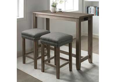 Image for Caerleon Gray 3 Piece Counter Height Dining Set